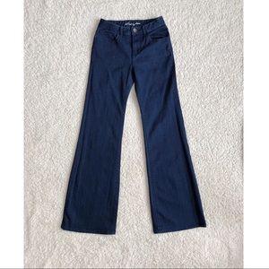 High Waisted Denim Flare Jeans